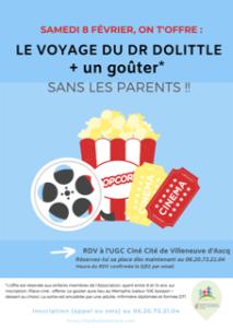 Sortie cinéma pour les ados et les enfants adhérant à l'association @ ugc villeneuve d'ascq